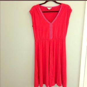 Boden Sleeveless Coral Dress
